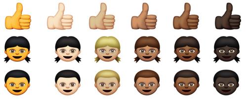 Apple、iOS8.3から絵文字に人種の違いを導入。