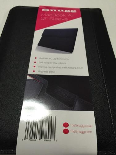 Snugg社の12インチMacBook用スリーブケースが届きました。