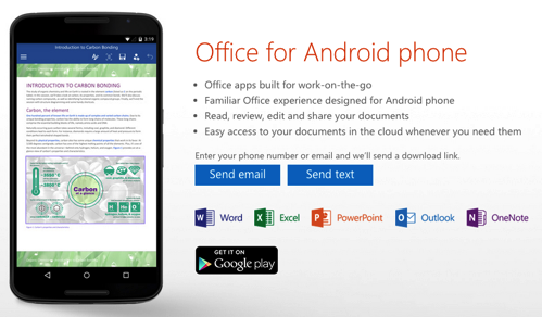 Microsoft、Androidスマホ向けの「Office for Android phone」をリリース。