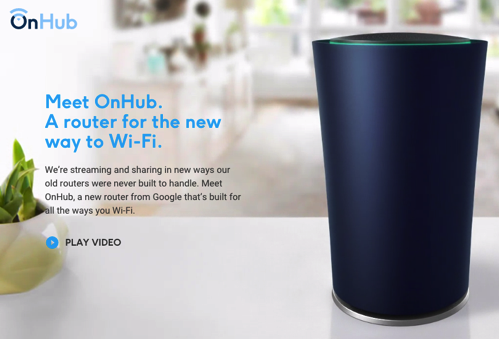Google製のWi-Fiルータが登場。